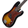 Sawtooth EP Series Electric Bass Guitar with Gig Bag & Accessories, Vintage Burst w/ Tortoise Pickguard