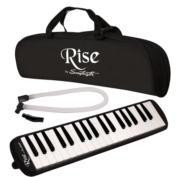 Rise by Sawtooth Piano Style Melodica with 37 Keys, Black