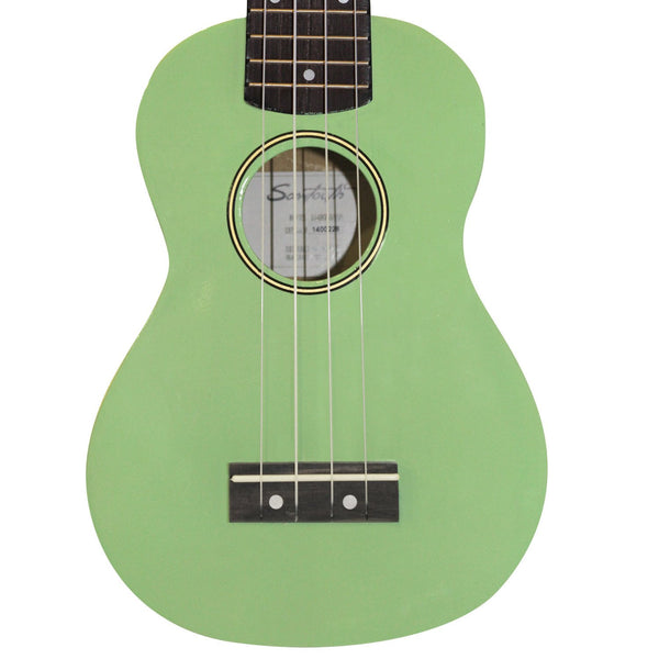 Sawtooth Basswood Soprano Ukulele, Surf Green