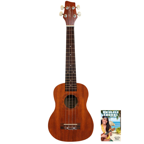 Sawtooth Mahogany Tenor Ukulele with Quick Start Guide