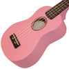 Sawtooth Basswood Soprano Ukulele, Pink, w/ ChromaCast Accessories