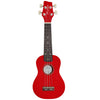 Sawtooth Basswood Soprano Ukulele, Red