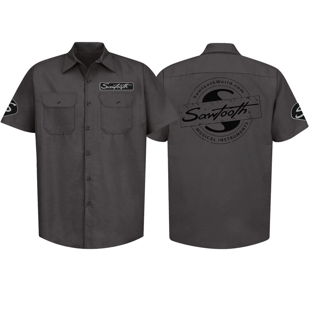 Sawtooth Short Sleeved Work Shirt with Logo, Small