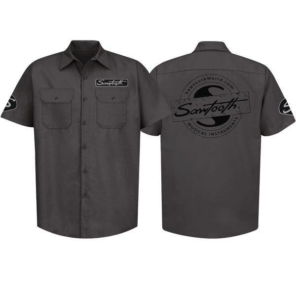 Sawtooth Short Sleeved Work Shirt with Logo, XL