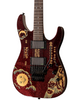 ESP Guitars LTD Kirk Hammett Limited Edition Ouija Red Sparkle Electric Guitar with ESP Ouija™ Hard Case, Signed COA, Picks, Strap, Cable & Clip-On Tuner