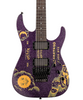 ESP Guitars LTD Kirk Hammett Limited Edition Ouija Purple Sparkle Electric Guitar with ESP Ouija™ Hard Case, Signed COA, Picks, Strap, Cable & Clip-On Tuner
