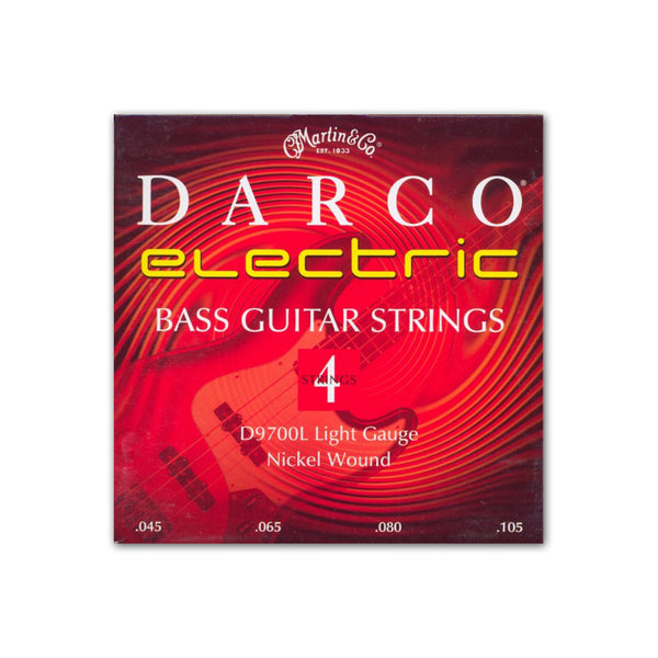 Martin D9705L Darco Nickel Plated 5-String Bass Guitar Strings, Light, .045-.125, 1 Pack with ChromaCast 4 Pick Sampler