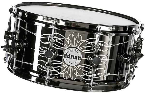"ddrum Tattooed Lady 6.5"" x 14"" Black Chrome Snare Drum"