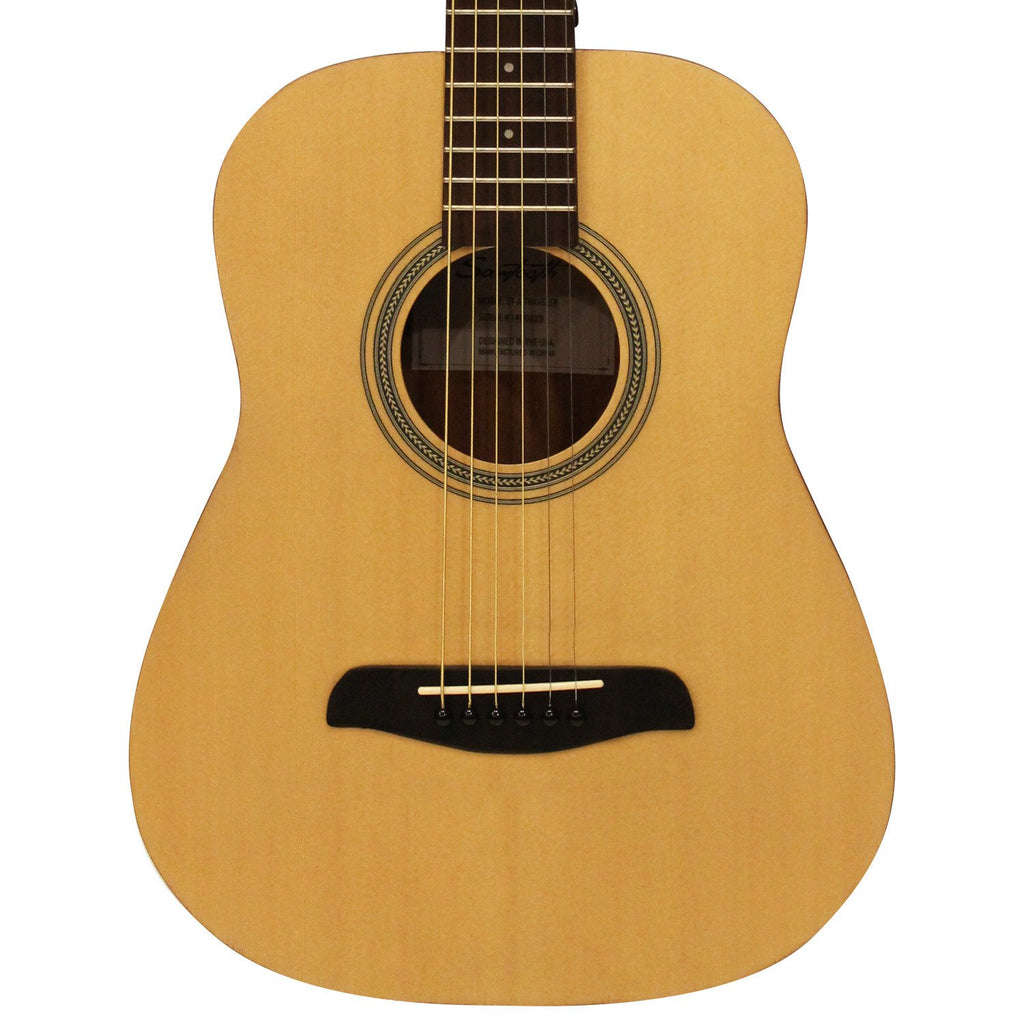 Sawtooth Spruce Top Traveler Acoustic Guitar with Arched Sapele Back, Sapele Sides