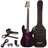 Sawtooth EP Series Electric Bass Guitar with Gig Bag & Accessories, Trans Purple
