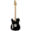 Sawtooth Classic ET 50 Ash Body Left Handed Electric Guitar, Black w/ Black Pickguard