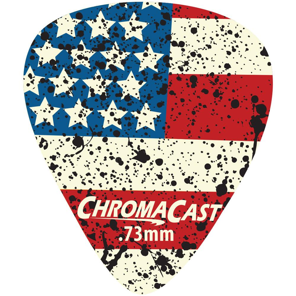 ChromaCast USA Flag Guitar Picks, Medium Gauge(.73mm), 10-pack