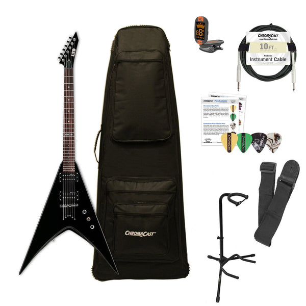 ESP LTD V-50 Electric Guitar with ChromaCast Gig Bag & Accessories