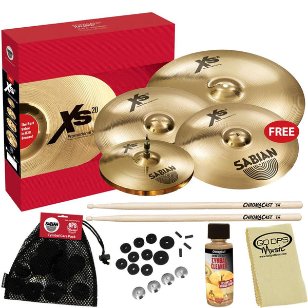 "Sabian XSR5005GB XSR Performance Set with Free 18"" Fast Crash & Accessories"