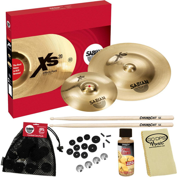 SABIAN XS5005EB Xs20 Effects Pack, Brilliant Finish, with ChromaCast Accessories