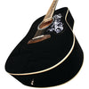 Sawtooth Acoustic Dreadnought Guitar with Custom Graphic Pickguard, ChromaCast Pick Sampler & Hard Case, Black