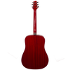 Sawtooth Modern Vintage Dreadnought Acoustic Guitar with ChromaCast Accessories, Trans Cherry Mahogany