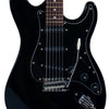 Sawtooth Black ES Series Electric Guitar w/ Black Pickguard - Includes: Accessories, Sawtooth 25W Amp, Hard Case & Online Lesson