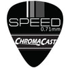 ChromaCast Speed Series Celluloid Guitar Picks, Medium Gauge (.71mm), Assorted Colors, 10 Pack