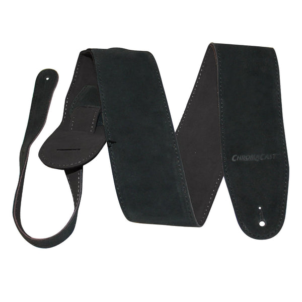 ChromaCast Black Suede Guitar Strap