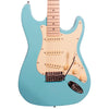 Sawtooth ES Series Electric Guitar with ChromaCast Padded Gig Bag & Accessories, Daphne Blue with Vanilla Cream