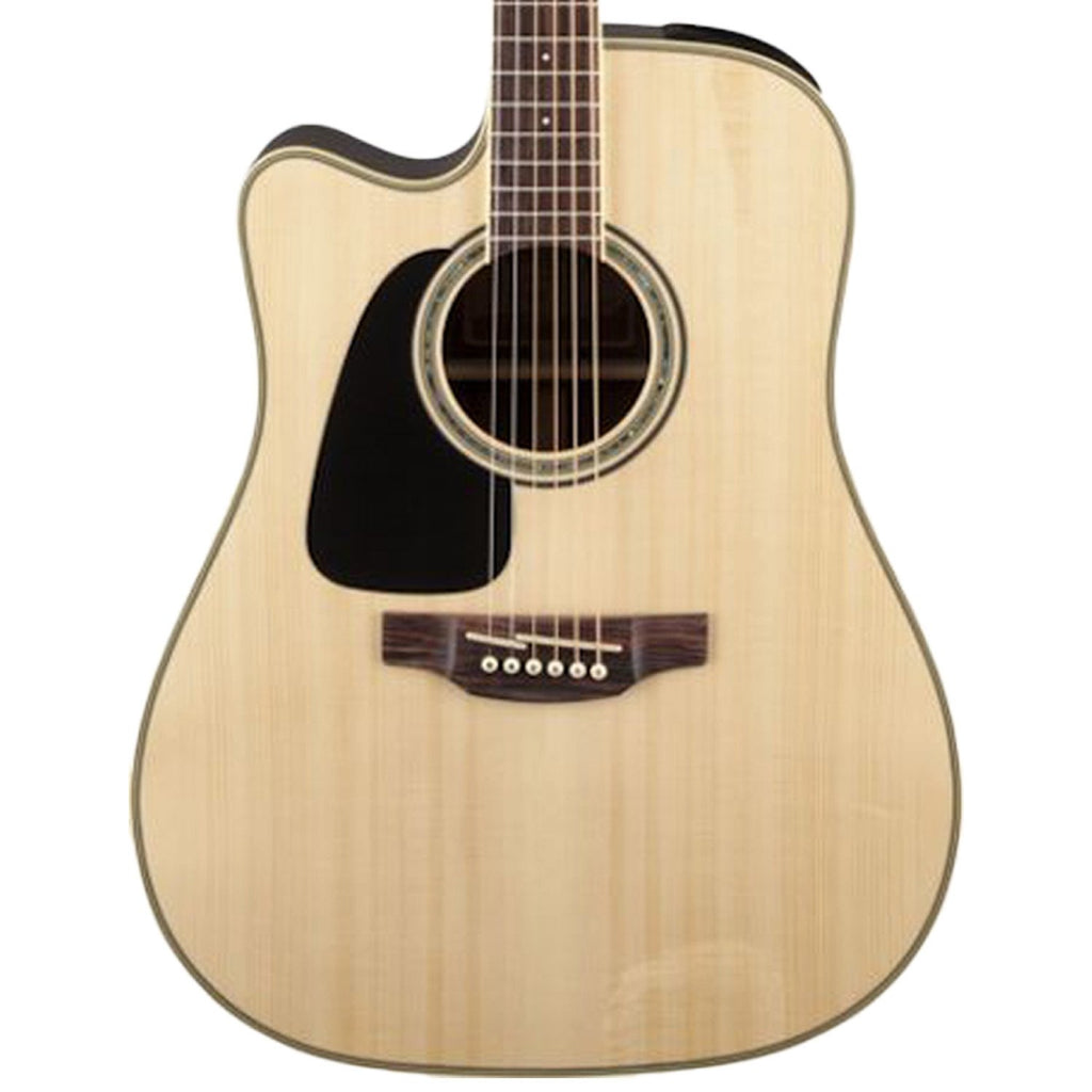 Takamine Left-Handed Dreadnought Cutaway Acoustic-Electric Guitar, Natural