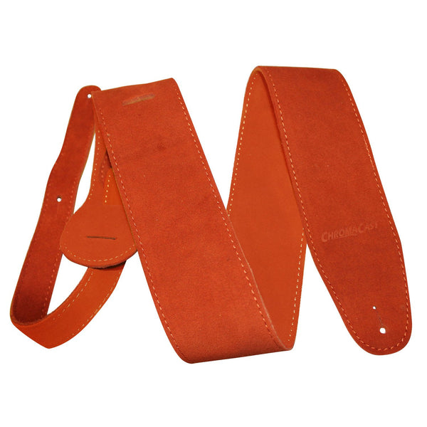 ChromaCast Burnt Orange Suede Guitar Strap