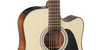 Takamine GD30CE NAT Dreadnought Cutaway Acoustic-Electric Guitar, Natural, with ChromaCast Acoustic Padded Gig Bag, Pick Sampler, & Polish Cloth