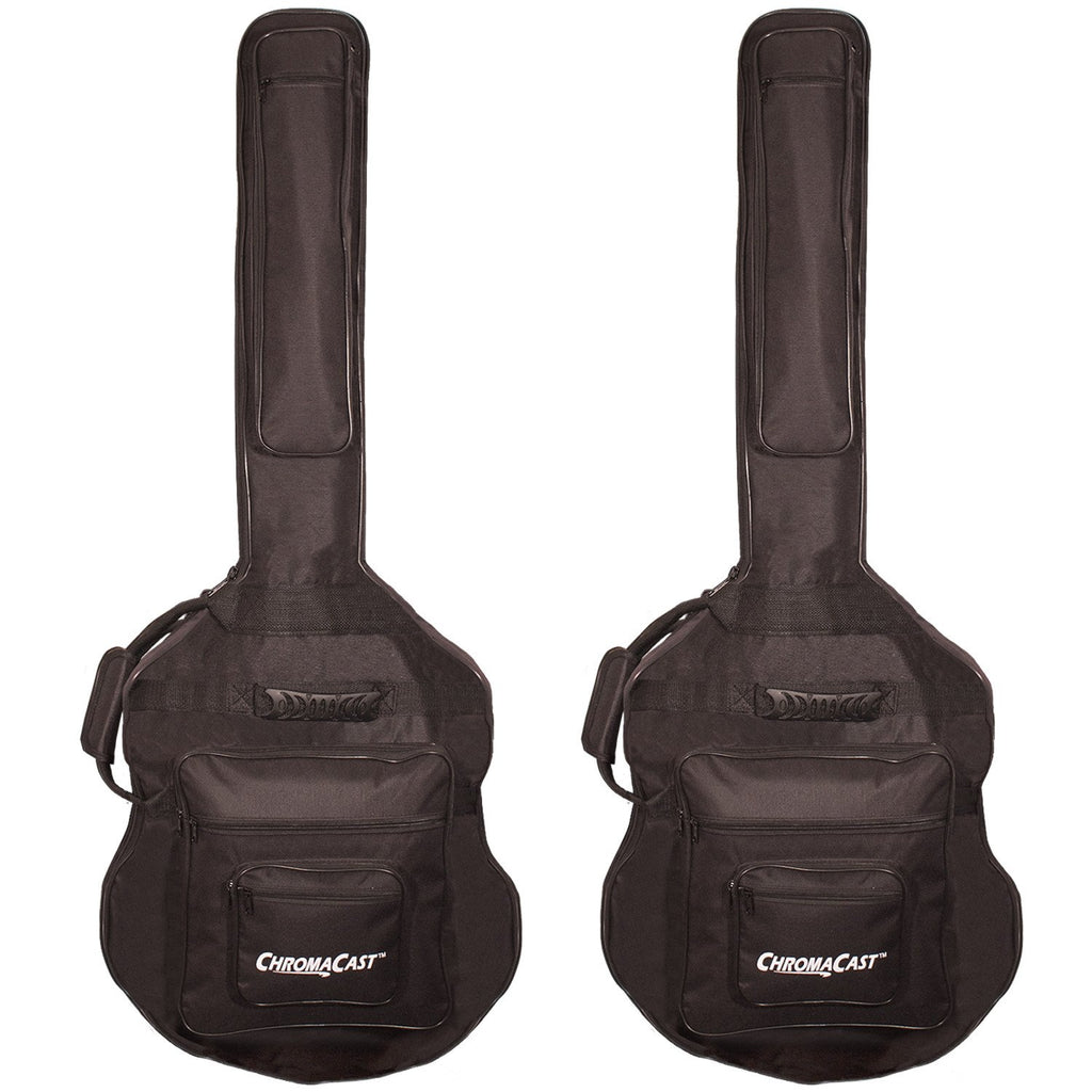 ChromaCast Acoustic Bass Padded Gig Bag - 2 Pack