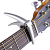 Six String Capo for Acoustic and Electric Guitars - Single Handed Quick Change Capo with Pick Sampler