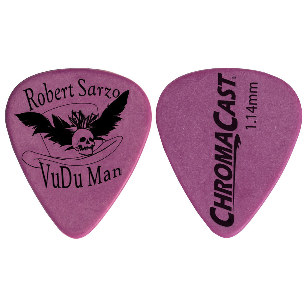 Chromacast Robert Sarzo Signature 1.14MM Delrin Dura Pick 10 Pack, Purple