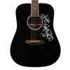 Sawtooth Acoustic Dreadnought Guitar with Custom Graphic Pickguard & ChromaCast Accessories, Black
