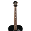 Sawtooth Acoustic Dreadnought Guitar with Black Pickguard & Custom White Graphic, Black