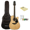 Takamine GD30CE-12 NAT-KIT-1 Dreadnought 12-String Cutaway Acoustic-Electric Guitar w/ Gig Bag & Accessories