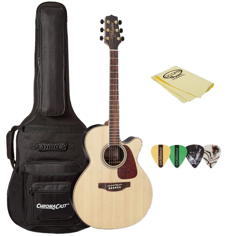 Takamine GN93CE Nex Cutaway Acoustic-Electric Guitar, with ChromaCast Gig Bag, Pick Sampler, & Polish Cloth