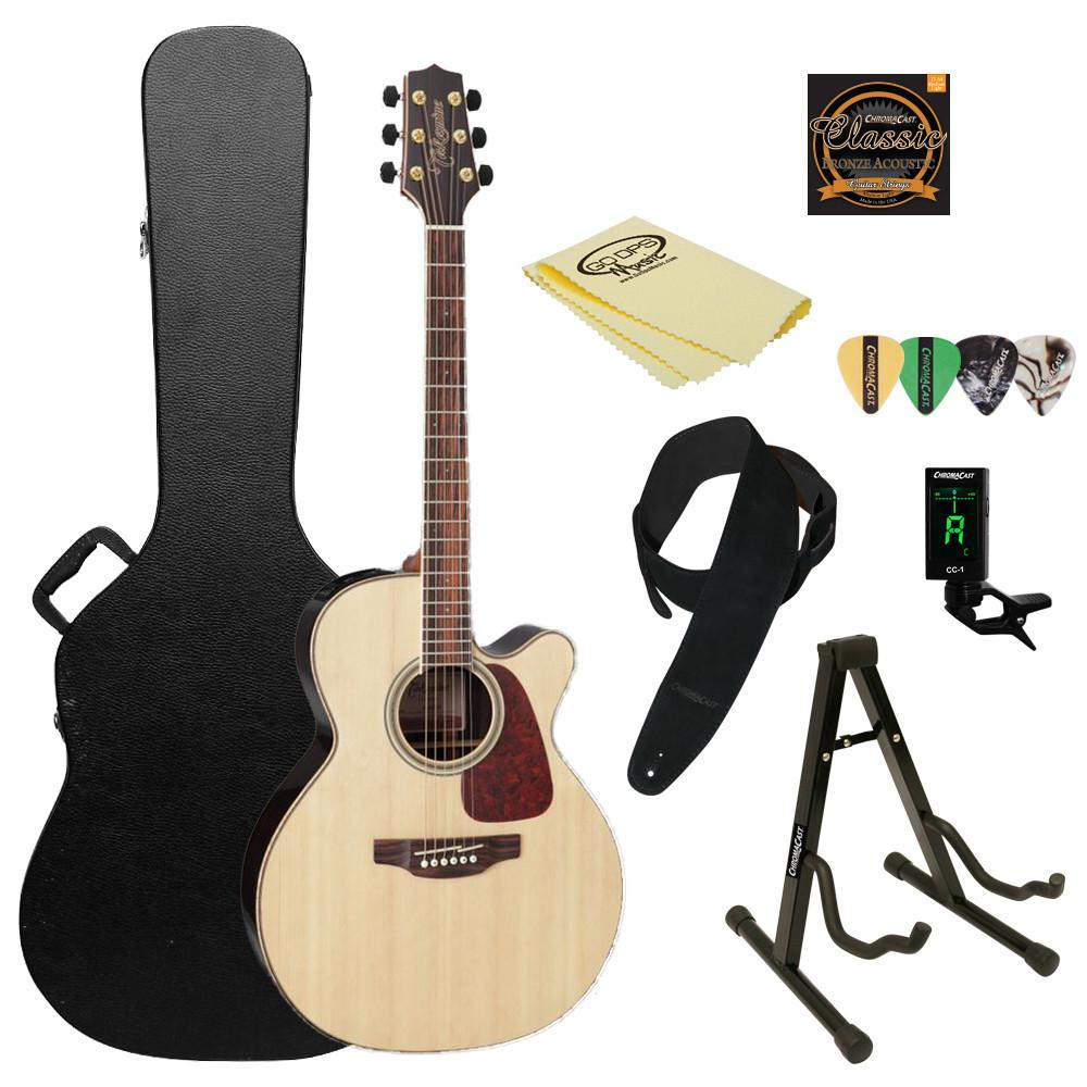 Takamine GN93CE Nex Cutaway Acoustic-Electric Guitar, with ChromaCast Hard Case & Accessories