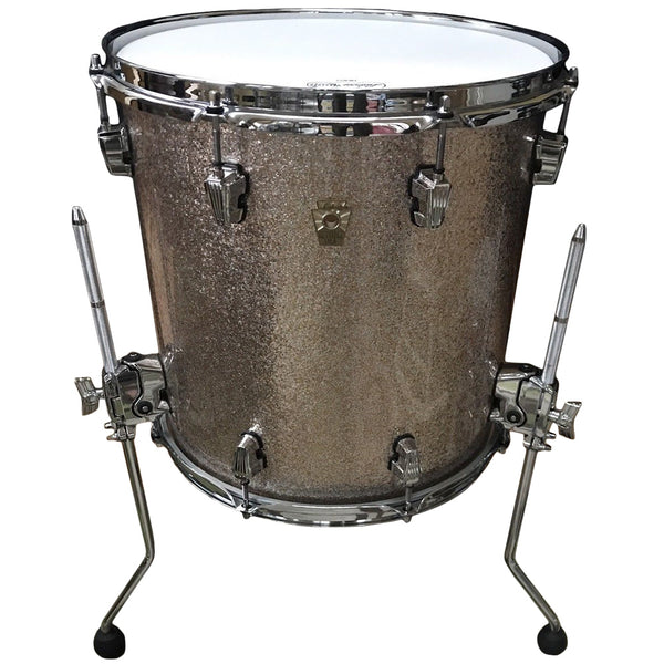 "Ludwig USA Keystone 18""x16"" Floor Tom with Atlas leg brackets, Shampayne Sparkle"