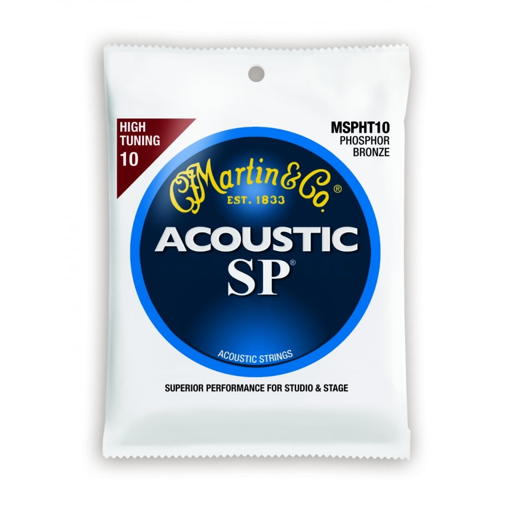 Martin MSPHT10 High Tuning Phosphor Bronze Acoustic Guitar Strings