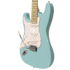 Sawtooth ES Series Beginner's Left-Handed Electric Guitar with Guitar Bag, Amp, and Accessories, Daphne Blue with Pearloid White Pickguard