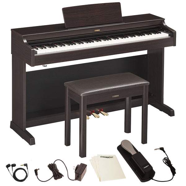 Yamaha YDP163R Arius Series Console Digital Piano with Bench & Accessories, Rosewood