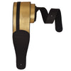 ChromaCast Leather Racing Stripe Guitar Strap with Suede Back, Gold w/ Black