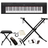 Yamaha NP12 61-Key Lightweight Portable Keyboard with Accessories, Black