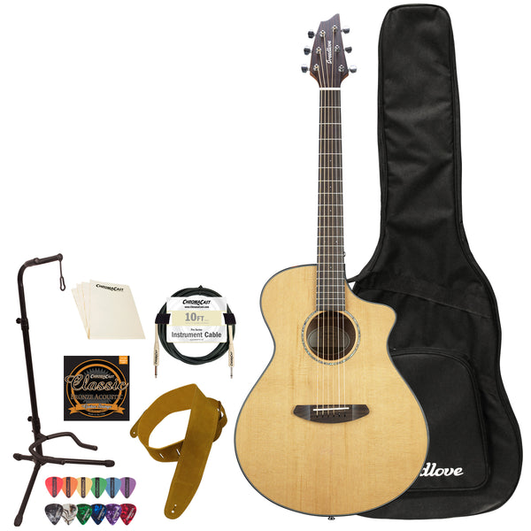 Breedlove Pursuit   Concert CE Red Cedar-Mahogany Acoustic-Electric Guitar with ChromaCast   Accessories