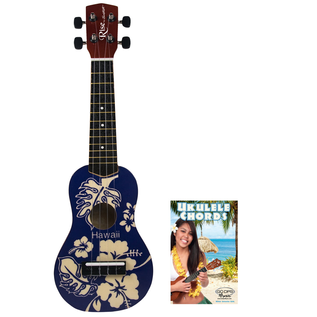 Rise by Sawtooth Beginner's Ukulele, Blue Hawaii