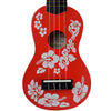 Rise by Sawtooth Beginner's Ukulele Pack, Hibiscus Red
