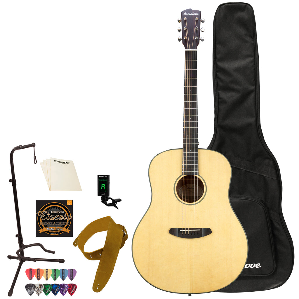 Breedlove Discovery Dreadnought Sitka-Mahogany Acoustic Guitar with ChromaCast Accessories