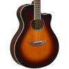 Yamaha APX600 Thin   Body Acoustic-Electric Guitar with Hard Case & Accessories, Old Violin   Sunburst