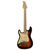 Sawtooth ES Series Beginner's Left-Handed Electric Guitar with Guitar Bag, Amp, and Accessories, Sunburst with Vanilla Cream Pickguard