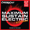 ChromaCast Maximum Sustain Electric Guitar String Bundle. Includes Light, Medium Light, and Medium Gauges