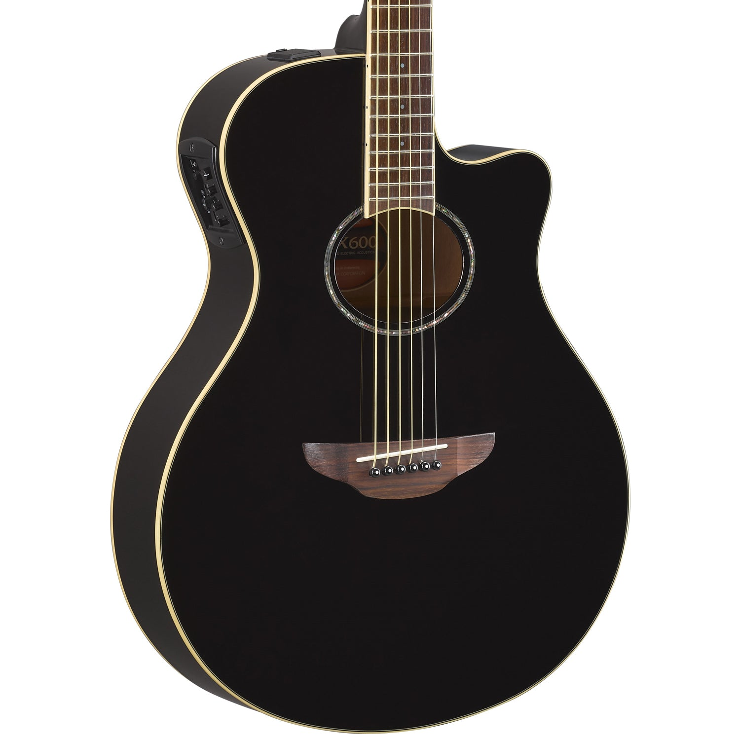 yamaha apx600 thin body acoustic electric guitar with gig bag access godpsmusic. Black Bedroom Furniture Sets. Home Design Ideas